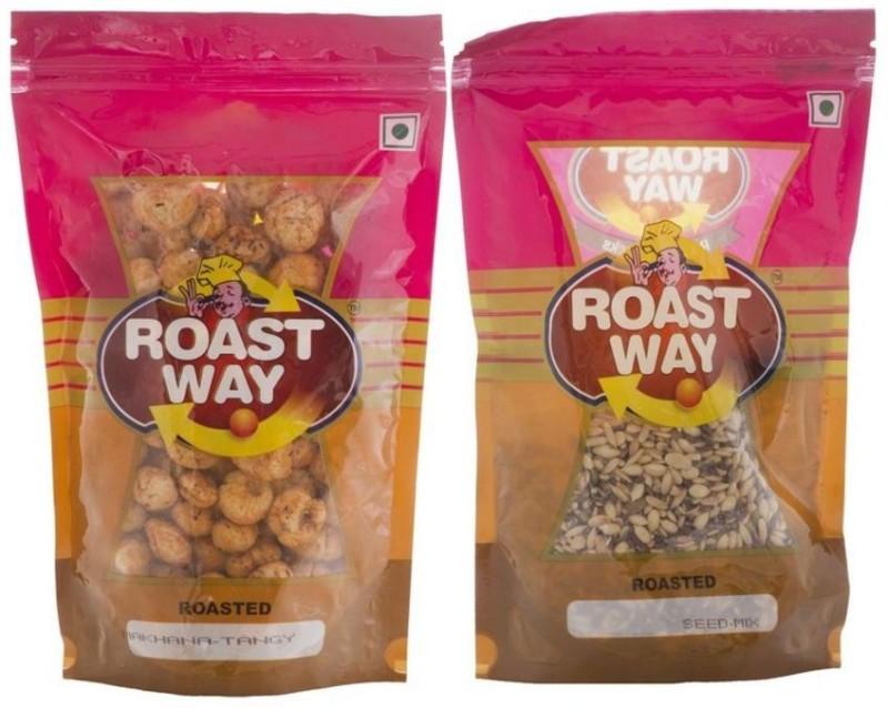 Roastway Foods Seed Mix & Tangy Makhana Roasted Namkeen Combo
