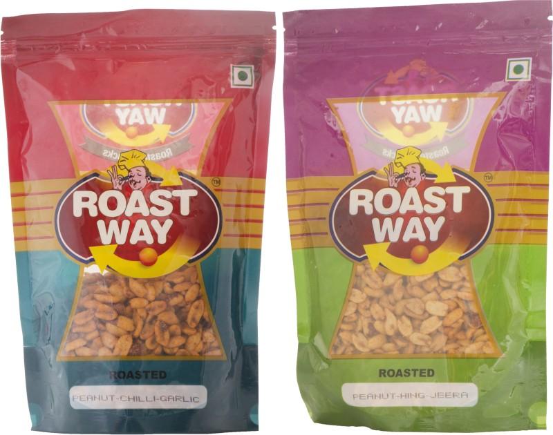 Roastway Foods Peanut Chilli Garlic & Peanut Hing Jeera Roasted Namkeen Combo