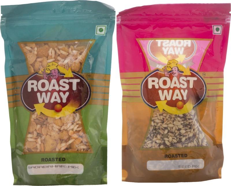 Roastway Foods Sadabahar Mix & Seed Mix Roasted Namkeen Combo