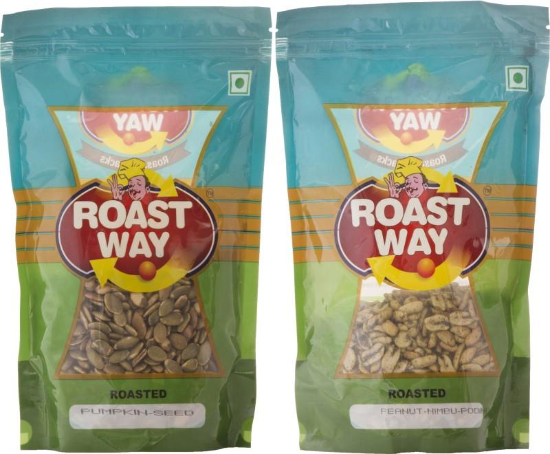 Roastway Foods Peanut Nimbu Podina & Pumpkin Seed Roasted Namkeen Combo