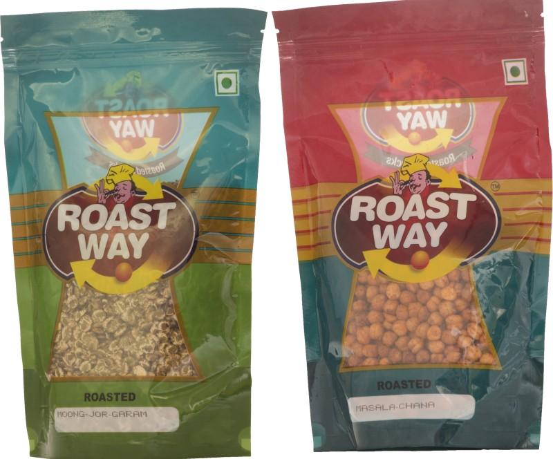 Roastway Foods Masala Chana & Moong Jor Garam Roasted Namkeen Combo