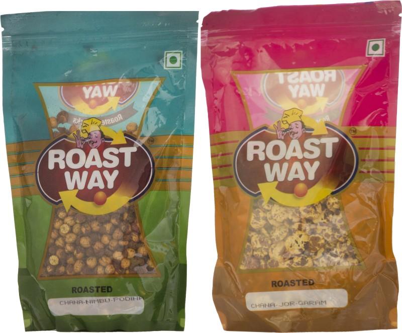 Roastway Foods Chana Jor Garam & Chana Nimbu Podina Roasted Namkeen Combo