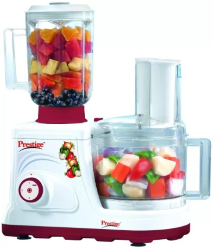 Prestige Champion 600 W Food Processor(White and Maroon)