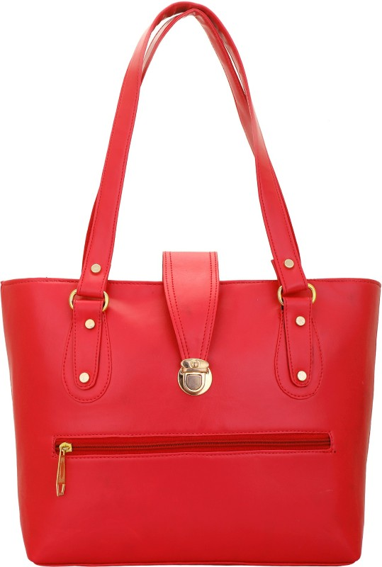 Lady Bar Women Red Hand-held Bag