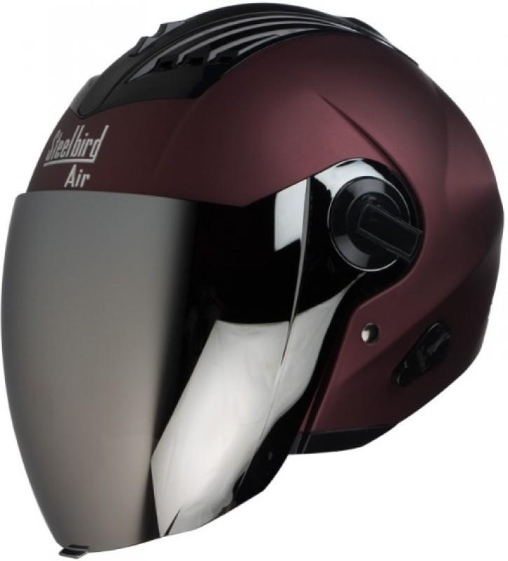 Steelbird AIR SBA-3-Matt Motorbike Helmet(Maroon)