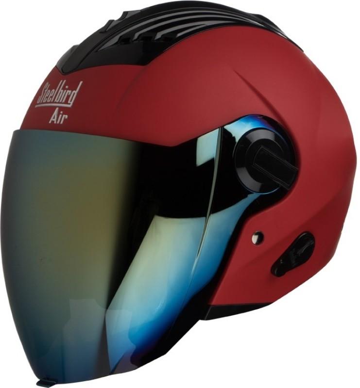 Steelbird AIR SBA-3-Matt Motorbike Helmet(Sports Red)