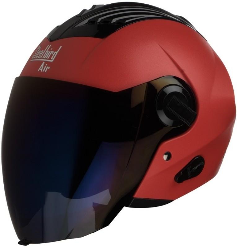 Steelbird AIR SBA-3 Dashnig Motorbike Helmet(Red)