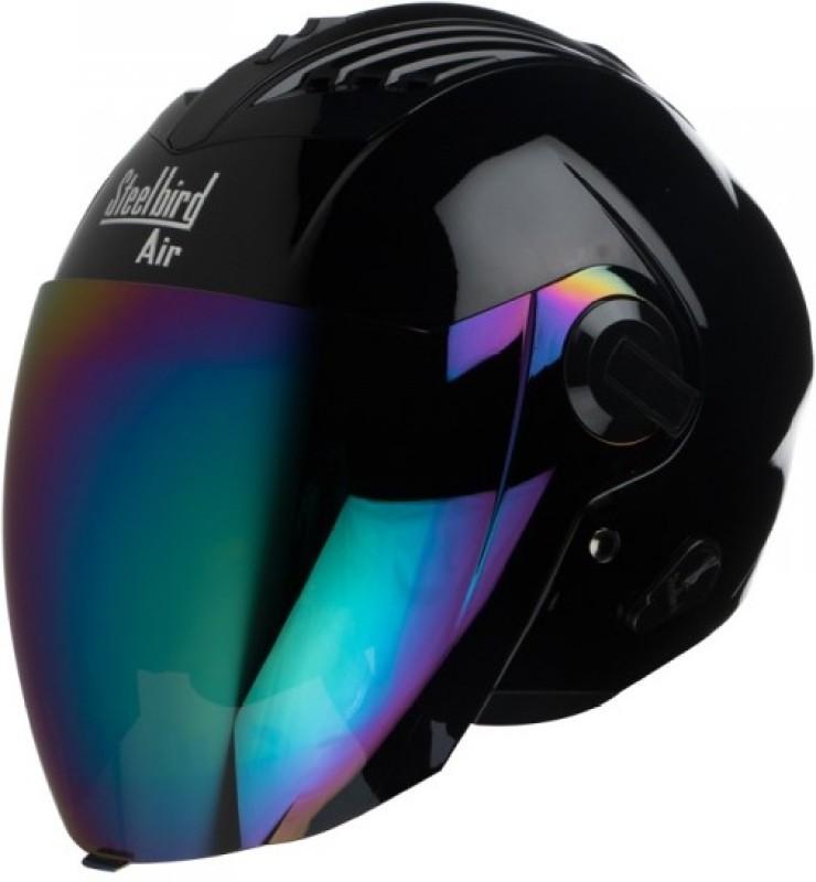 Steelbird AIR SBA-3 Glossy Motorbike Helmet(Glossy Black)