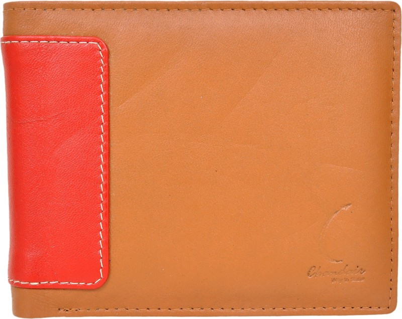 Chandair Men Brown Genuine Leather Wallet(6 Card Slots)