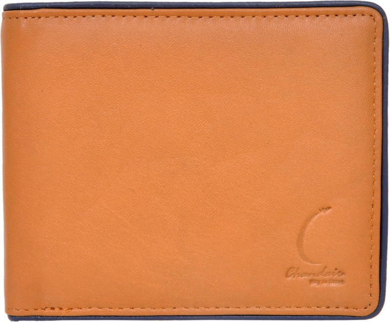 Chandair Men Brown Genuine Leather Wallet(5 Card Slots)