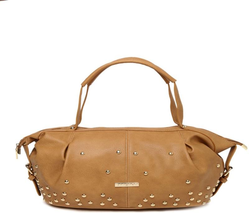 Addons Retro Look Riveted Duffle Shoulder Bag(Beige, 5 L)