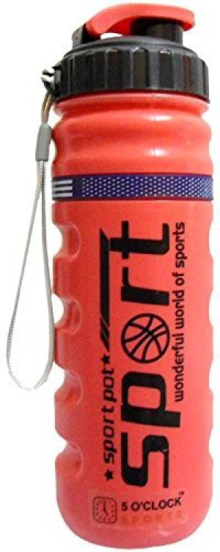 5 OClock Sports Roller Sipper Water Bottle - 800 ML 800 ml Sipper(Pack of 1, Red)
