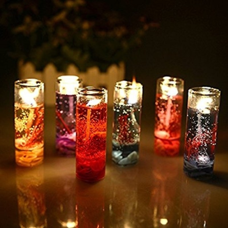 Clouds Pencil Decorative Candle, Set of 6 Candle(Multicolor, Pack of 6)