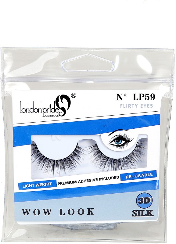 London Pride Cosmetics 3D SILK FLIRTY EYES EYELASH WOW LOOK(Pack of 1)