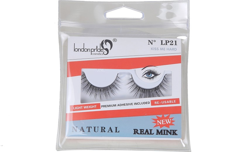 London Pride Cosmetics REAL MINK KISS ME HARD EYELASH NATURAL(Pack of 1)