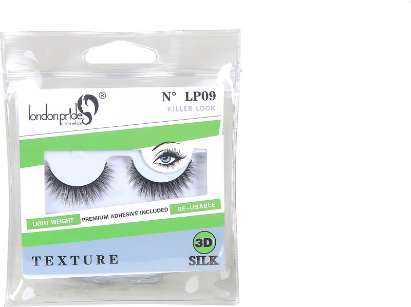 London Pride Cosmetics 3D SILK KILLER LOOK EYELASH TEXTURE(Pack of 1)
