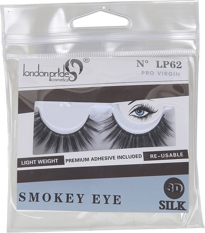LONDON PRIDE COSMETICS 3D SILK PRO VIRGIN EYELASH SMOKEY EYES(Pack of 1)