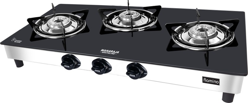 maharaja Glass Manual Gas Stove(3 Burners)