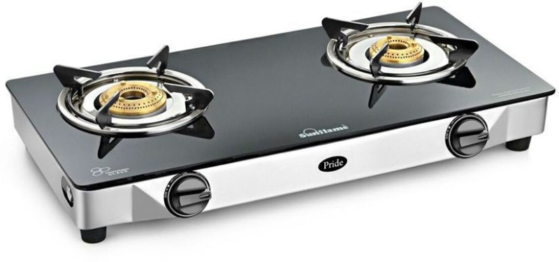 Sunflame Stainless Steel Manual Gas Stove(2 Burners)