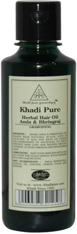 Khadi Pure Herbal Amla & Bhringraj Hair Oil(210 ml)