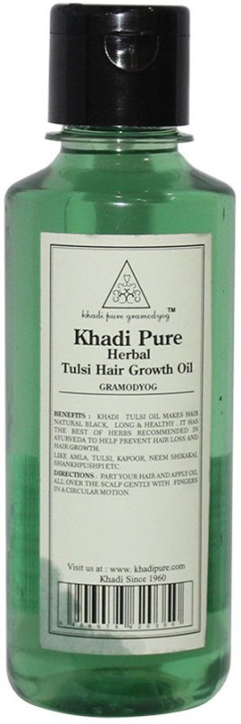 Khadi Pure Herbal Tulsi Hair Growth Oil Hair Oil(210 ml)