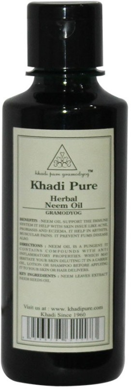 Khadi Pure Herbal Pure Neem Oil Hair Oil(210 ml)