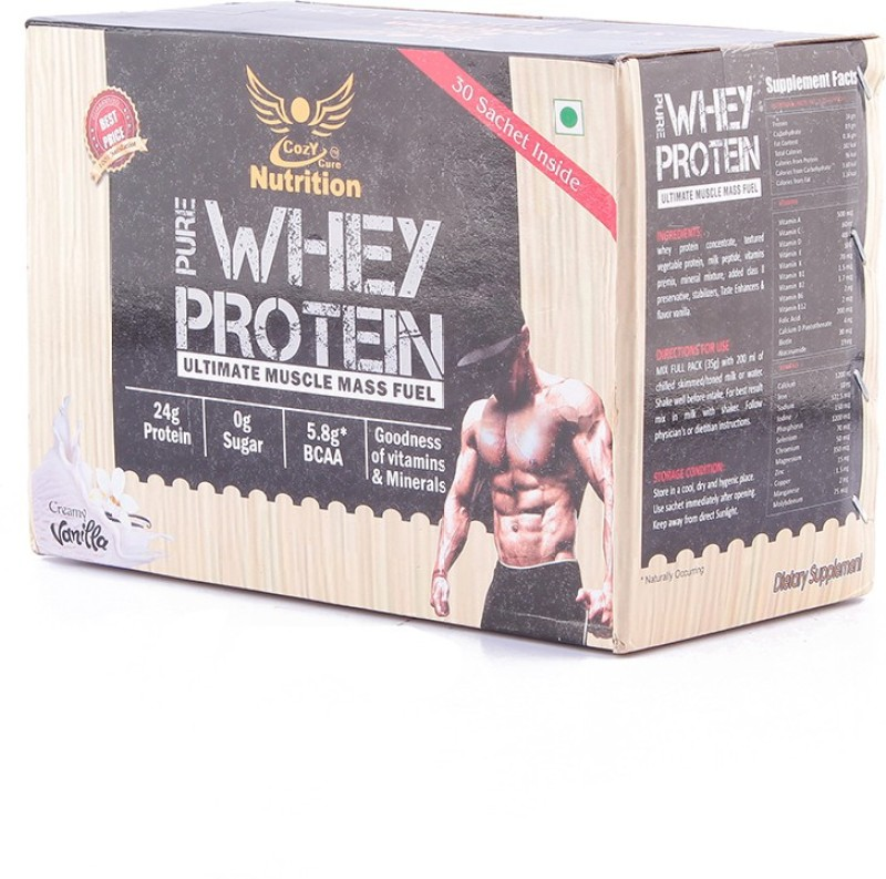 Cozy Cure Nutrition COZY CURE NUTRITION (30 DAILY PACK) Whey Protein(1050 g, vanila)