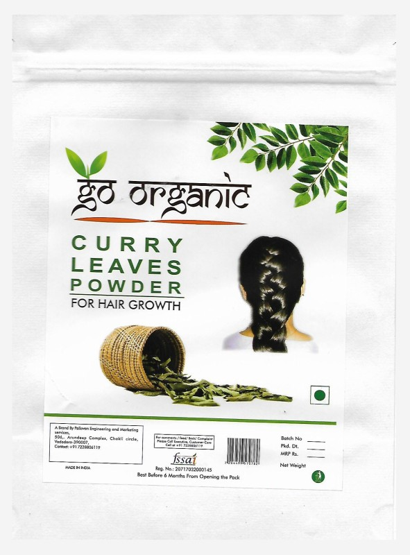 Go organic Curry Leaves Powder To Grow Long, Strong And Shiny Hair ( 250 Grm )(250 g)