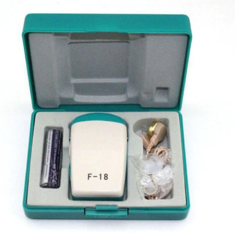 NSC SS Axon F-18 Hearing Aid with Extra Wire Wire Pocket Model Hearing Aid(White, Green)