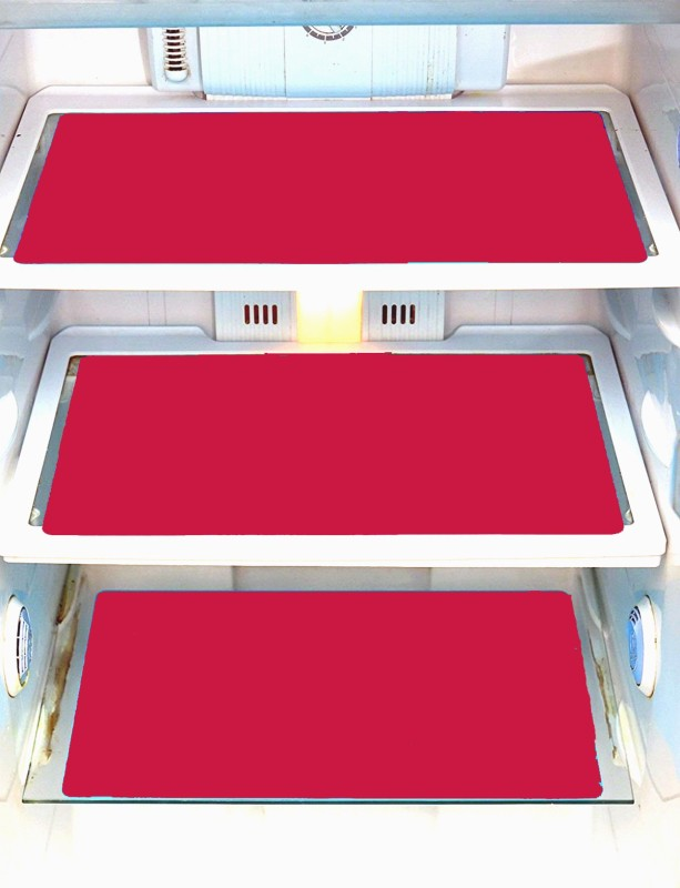 Yellow Weaves Refrigerator Cover(Pink)