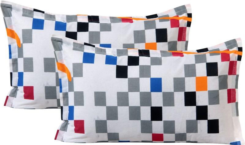 Home Elite Geometric Pillows Cover(Pack of 2, 45 cm*69 cm, Multicolor)