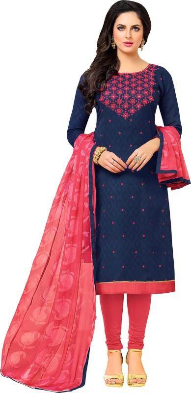 Ratnavati Jacquard Embroidered Salwar Suit Dupatta Material(Un-stitched)