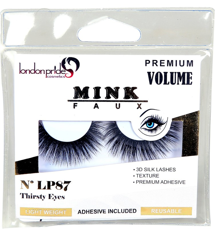 london pride cosmetics FAUX MINK THIRSTY EYES EYELASH(Pack of 1)