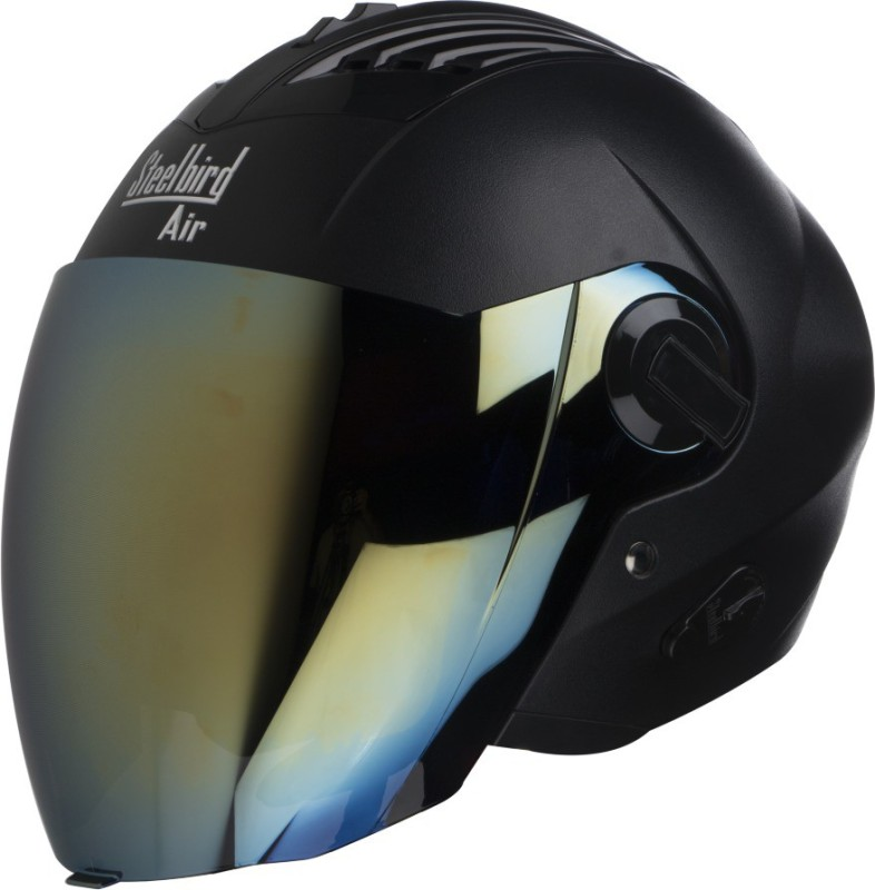 Steelbird SBA-3 Motorbike Helmet(Black)