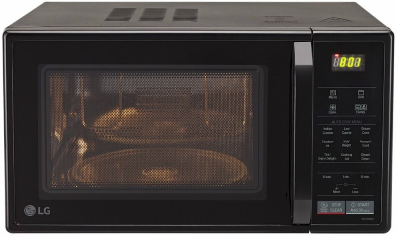 LG 21 L Convection Microwave Oven(MC2146BV, Black)