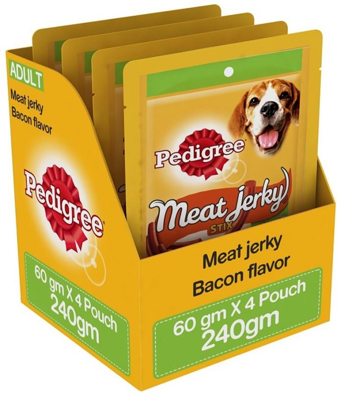 Pedigree Meat Jerky Stix Bacon Dog Treat(240 g, Pack of 4)