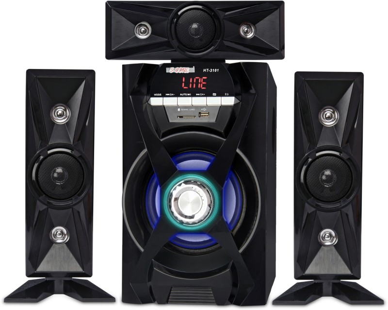 5 Core HT-3101-BT Bluetooth Home Theater 35 W Bluetooth Home Audio Speaker(Black, 3.1 Channel)