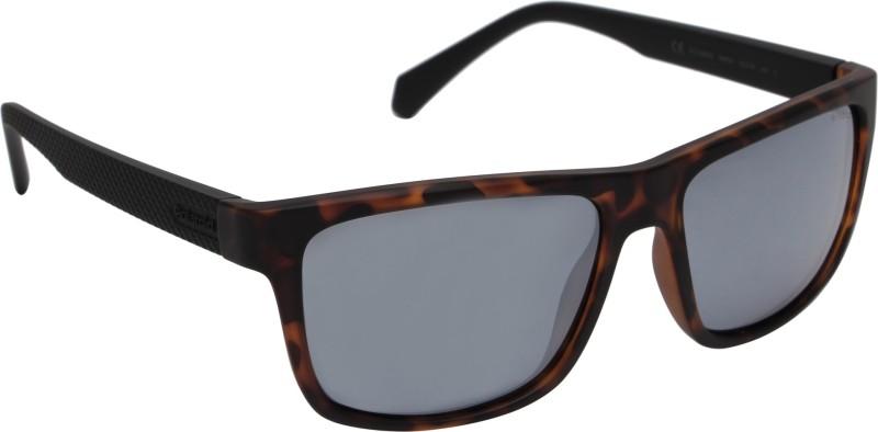 Polaroid Rectangular Sunglasses(Silver)