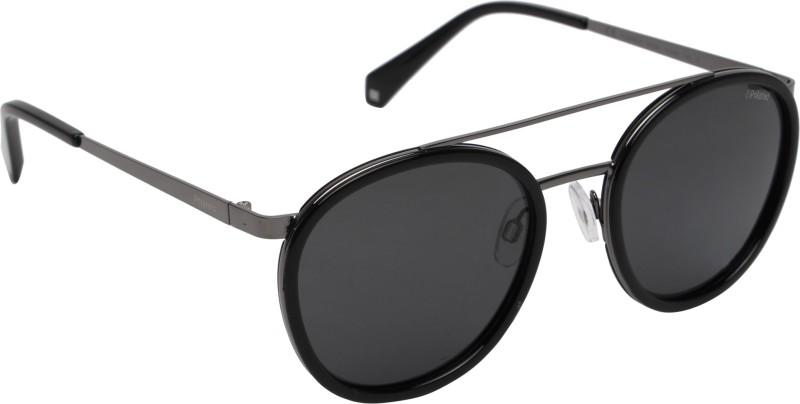 Polaroid Round Sunglasses(Grey)