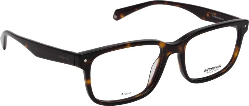 Polaroid Retro Square Sunglasses(Clear)