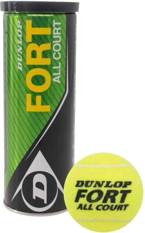 Dunlop Fort Tennis Ball(Pack of 3, Yellow)