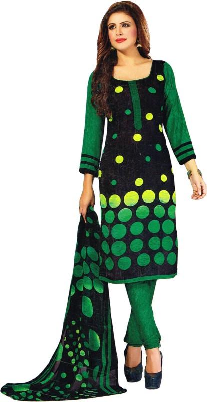 Salwar Studio Synthetic Polka Print, Printed Salwar Suit Dupatta Material(Un-stitched)