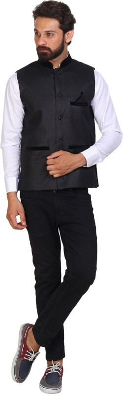 Akaas Sleeveless Solid Men Jacket