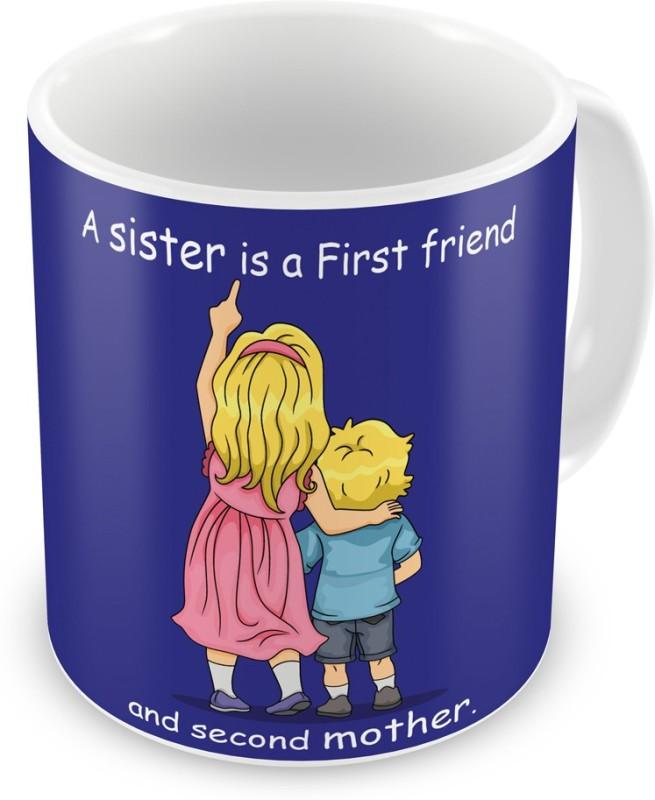 Indigifts Return Gift for Raksha Bandhan Rakhi Gifts for Sister on Bhaidooj Birthday Anniversary (IDSRAF16185) Ceramic Mug(330 ml)