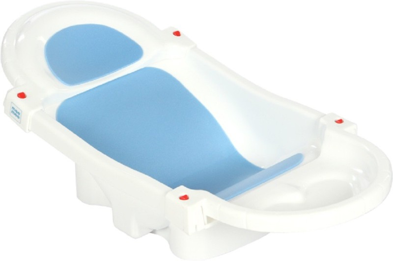MeeMee Foldable and Spacious Baby Bath Tub (White)(White)