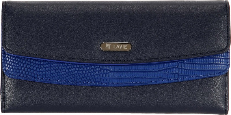 Lavie Women Blue Artificial Leather Wallet(10 Card Slots)