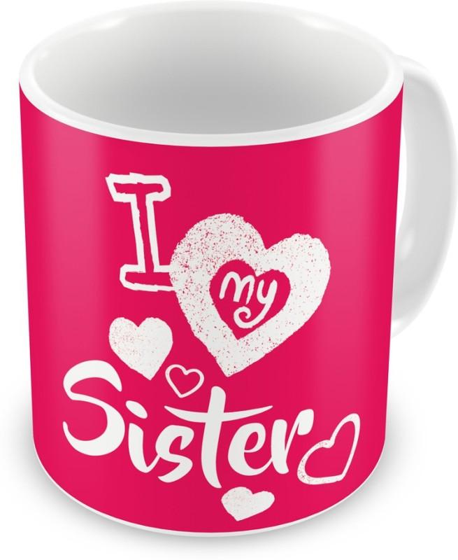 Indigifts Return Gift for Raksha Bandhan Rakhi Gifts for Sister on Bhaidooj Birthday Anniversary (IDSRAF16176) Ceramic Mug(330 ml)