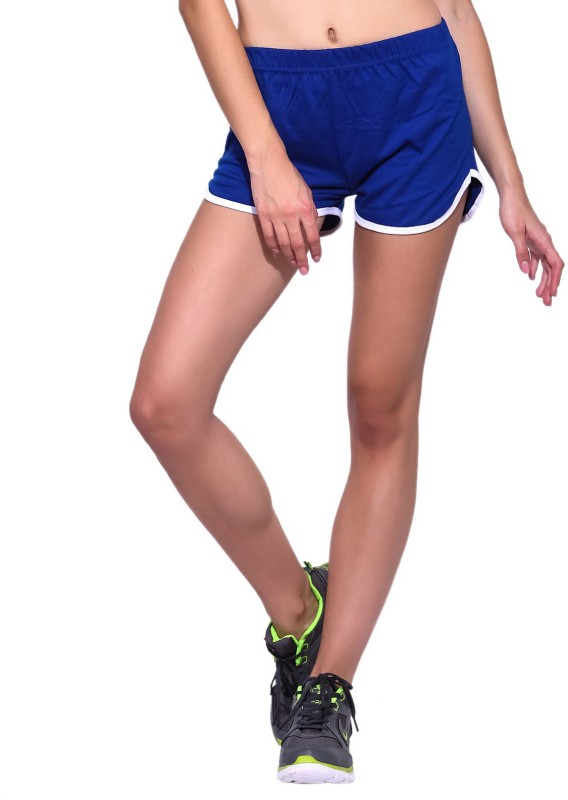 Ap'pulse Solid Women's Blue, White Sports Shorts