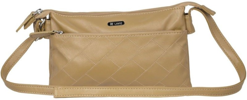 Lavie Women Khaki PU Sling Bag
