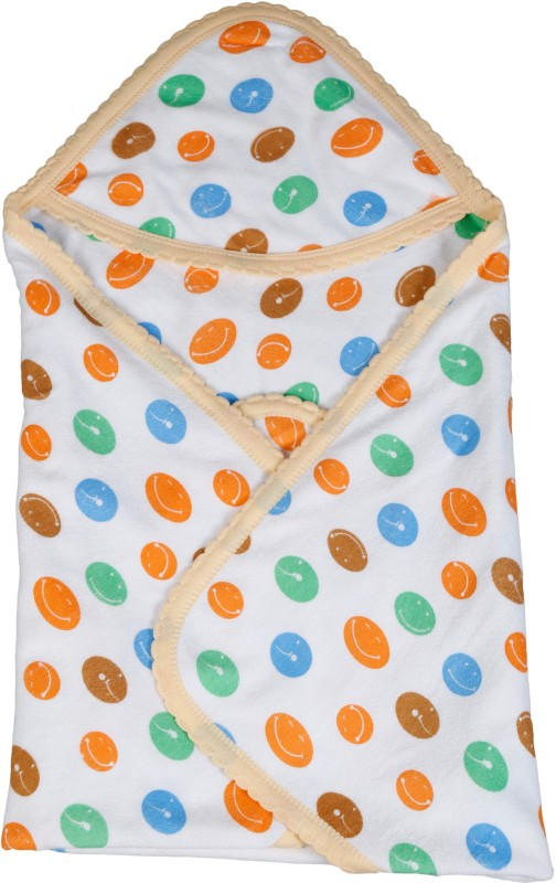 Popees Cotton 300 GSM Bath Towel(Orange)
